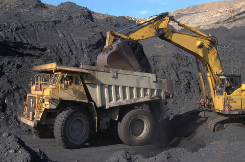 A coal handling plant crushes coal into graded sized chunks, stockpiling grades and preparing it for transport to market.